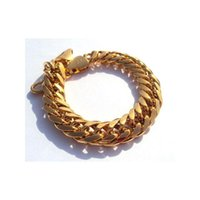 Wholesale gold nuggets resale online - Heavy g Hypotenuse Nugget Bracelet kt Yellow Gold Hge mm Mens New Real Gold jllFLH carshop2006