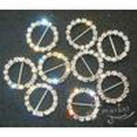 Wholesale round slider buckle for sale - Group buy Wedding Jewelry mm Round Rhinestone Buckle Invitation Ribbon Slider Wedding Supply