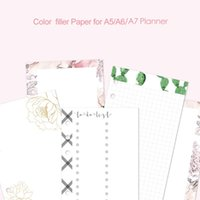 Wholesale korean spiral notebook for sale - Group buy Fromthenon Korean Cute Filler Paper Refill for Filofax Spiral Notebook A5A6A7 Planner Color Grid Blank Todo List Core Stationery