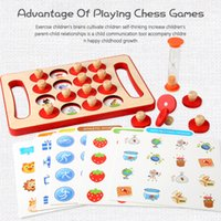 Wholesale chess boards resale online - Wooden Toys Childrens Early Eon Memory Chess Training Memory Parent Child Leisure Puzzle Kindergarten Board Game