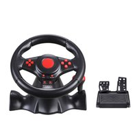 Wholesale Direct selling for PS4 PS3 SWITCH PC game steering wheel USB computer vibration steering wheel with Retail Box