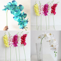 artificial orchids single flowers 2021 - 93cm Wedding Decorations Artificial Flowers Single Plastic Silk Flower Polyester Fiber Butterfly Orchid Flowers Home Party 4 9sm G2