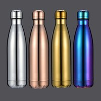 Wholesale accessories ps 4 for sale - Group buy 500ml Water Cup Insulation Mug Vacuum Bottle Sports Stainless Steel Cola Bowling Shape Travel Mugs Color Free Dhl Wx C19