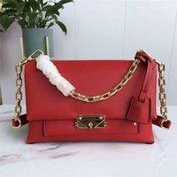Wholesale best leather handbags for women for sale - Group buy Best Selling Classical Women Luxury Designer Bag Handbag Soft Genuine Leather Medium Size Bag Metal Chain Strap Shoulder Bag for Women