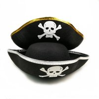Wholesale caribbean hats resale online - Hrg2M cosplayprops ship ship hat matching supplies pirate captain hat Caribbean skull pirate Halloween Pd9b