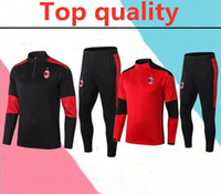 Wholesale thomas the train resale online - 2020 AC Milan adult Soccer training suit survetement AC Milan HIGUAIN CALHANOGLU BONUCCI football Tracksuit