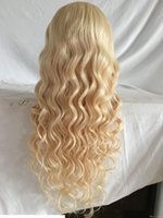 Wholesale long blonde human hair wig bangs for sale - Group buy Hot Brazilian Blonde Virgin Hair Full Lace Wig With Bangs Long Blonde Human Hair Wig Glueless Lace Wig With Baby Hair Good Quality