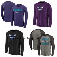 Wholesale charlotte gold resale online - 2020 Charlotte Hornets Men Training Sweatshirt Authentic Showtime Therma Flex Performance Full Zip nba Basketball Hoodie Sweater