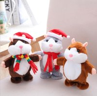 Wholesale hamster toys for sale - Group buy Talking Hamster Plush Toys Cute Animal Cartoon Kawaii Speak Talking Sound Record Hamster Talking Toy Children Christmas Gifts cm EWB2905