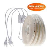 1M 5M 10M 220V LED Strip String Light Waterproof Fiexble Light Led Ribbon Tape 3014 Led Lamps With Power Plug Controller
