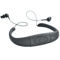Wholesale media player for mp3 resale online - Waterproof MP3 Player Earphone Music Media Player Underwater Neckband o Headset Headphone with FM Radio for Diving Swimming