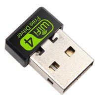 usb ethernet adapter venda por atacado-150Mbps Mini WiFi Adaptador USB Driver de adaptador Wi Fi Dongle Placa de Rede Ethernet sem fio WiFi Receiver para PC portátil