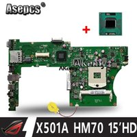 Wholesale motherboard for asus for sale - Group buy Asepcs X501A Laptop motherboard For Asus X501A Test original mainboard X401A REV HM70 quot HD Mainboard send CPU