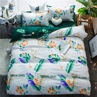 Wholesale leaf bedding sets for sale - Group buy Double Set Sheet Size Twin Print Duvet Sets Bedclothes And Bedding Printed Cover Leaves King Pillowcase Bedlinen Queen bbyhxB yh_pack