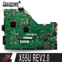 Wholesale Asepcs X55U Laptop motherboard For Asus X55U X55 Test original mainboard