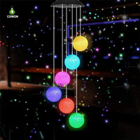 Wholesale spiral spinners for sale - Group buy Mutil model Solar Powered Wind Chime Color Changing Spiral Spinner Garden Windchime Outdoor Decorative Windbell Light
