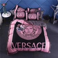 Wholesale king comforters resale online - 2020 pink designer bedding sets thick velvet king size bed comforters sets cover queen size housse de couette new duvet cover set