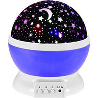 Wholesale new moon bedding resale online - Best Seller Romantic New Rotating Star Moon Sky Rotation Night Projector Light Lamp Projection With High Quality Kids Bed Lamp