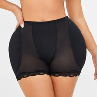 körper taille pads groihandel-Frauen niedrige Taille Unterwäsche Padschwämme Körper Shapers Hüften Bauch Schlank Fake Ass Pants Padded Formwäsche Panties Hüftpolster Plus Size
