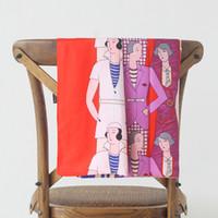 Wholesale paris shawls resale online - 130 cm Square Large Twill Wraps Women Cartoon Design Shawl Stole Hijab Soie Woman Print Silk Paris Scarfs