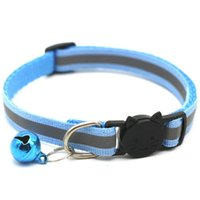 Wholesale reflective collars for dogs for sale - Group buy Adjustable Reflective Dog Collars Pet Collars With Bells Charm Necklace Collar For Little Dogs Cat Collars Pet Supplies Hot Sale VT0835