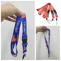 Wholesale phone favor resale online - hot Trump Lanyards American Election Lanyard Pendants USA Flag Make America Great Key Ring moble phone lanyard Party Favor T2I51548