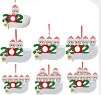 Wholesale personalized christmas ornaments for sale - Group buy Quarantine Christmas tree Decoration Gift Personalized Hanging Ornament Pandemic Social Distancing Santa Claus with Mask