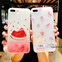 Wholesale watermelon iphone case for sale – best Summer Fresh Fruit Cover Soft TPU Matte Colorful Shell Cute Watermelon Full Body Phone Case for iPhone plus X XR XS