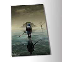 Wholesale legend zelda ocarina resale online - Modern Poster The Legend of Zelda Ocarina of Time Game Poster Wall Art Canvas Painting Wall Art for Living Room Home Decor