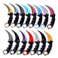 Wholesale counter strike resale online - Outdoor Tool Fighting Csgo Karambit With Man Hunting Gift Colors Strike Knife Sheath Survival For Knife Counter Camping Christmas qylTs
