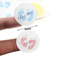 Wholesale water bottle labels for sale - Group buy Baby Shower Decor It Is A Boy It Is A Girl Adhesive Sticker Seal Label Candy Box Decoration Mineral Water Bottle Gift bbyYKa bdesports