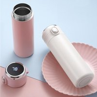 Wholesale ps cups for sale - Group buy Stainless Steel Thermal Cup Vacuum Flask Intelligent Temperature Measurement Bounce Cups Students Portable Thermos Bottle Cups BWA1711