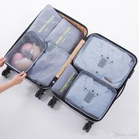 Wholesale 7pcs bedding set for sale - Group buy Travel Set Storage Bag Multi function Home Waterproof Clothes Bag Large Capacity Luggage Finishing Bags Set With Shoe Bags DH0851 T03