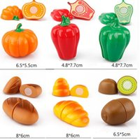Wholesale fruit vegetable set cut toys for sale - Group buy New Food Fruit Vegetable Cutting Pretend Play Toy Children Kitchen Toys Sets Fruit Vegetable Food Toy For Child Education wmtajt