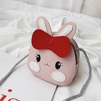 Wholesale lovable girls resale online - Lovely Cartoon Animals Coin Purse Leather Children Messenger Girls Crossbody Shoulder Lovable Owl Money Bag Kids Gift