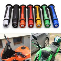 Wholesale cycling handle grips resale online - Motor cycle Handle Grip Racing Handlebar Grip With End MM For BARRACUDA Duke RC390 RC125 RC8 rc