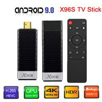 Wholesale stick player resale online - TV Stick Android Box X96S Amlogic S905Y2 DDR4 GB GB X96 Mini PC G WiFi H Bluetooth Media Player