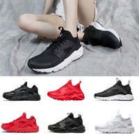 huaraches красный  оптовых-2020 Huarache 1.0 4.0 Men women Stripe Red Black White Rose Gold Women Designer Shoes Huaraches Ultra Reflect Sport Sneakers