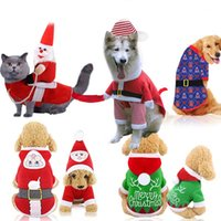 Wholesale hair accessories clothing for sale - Group buy pet Dog clothes designer dog clothes Christmas pet supplies cat cotton accessories funny autumn and winter clothes elderly elk snow