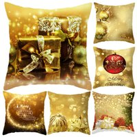 Wholesale christmas pillow cases resale online - Elk Santa Claus Pillow Case Christmas Cushion Cover Merry Christmas Ornament Xmas Gift Christmas Decorations For Home KKA1519