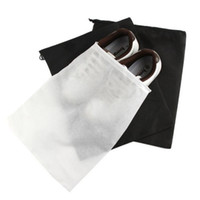 Wholesale clothing dust cover bags resale online - Storage Bag Non Woven Reusable Shoe Cover With Drawstring Case Breathable Dust Proof Sundries Package Home Tool DHD2932