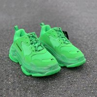 Wholesale designer shoes men s for sale - Group buy 2020 new Paris Fashion FW Triple S Sneakers Crystal Bottom Luxury Boots For Men Women Green White Vintage Old Dad Grandpa Casual Shoes