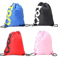 Wholesale beach bag backpack drawstring resale online - School Bags THINKTHENDO Backpack Shopping Drawstring Bags Waterproof Travel Beach Shoes Pack Drop Shipping Good Quality