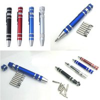 Multi-function 8 in 1 Precision Screwdriver With Magnetic Mini Portable Portable Aluminum Tool Pen Repair Tools For Mobile Phone DBC VT0220
