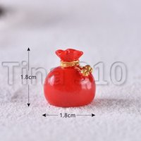 Wholesale small christmas socks for sale - Group buy Christmas Decoration Christmas old man Snowman micro landscape snowscape Ornament Christmas socks small gift bell resin ornament HHB2290