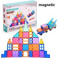Wholesale magnetic blocks for sale - Group buy Magnetic building translucent intelligent safe material unisex block brick
