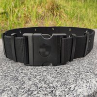 Wholesale 19 belts resale online - PQDf9 cotton outer black fire fighting belt New outer men s plasticNew black double row Air eye Belt rescue polyester for men sw7uH