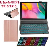 Wholesale For Tab A Keyboard with Cover Wireless backlight Bluetooth Keyboard Case T510 T515 SM T510 SM T515