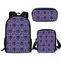 Wholesale backpacks for boys resale online - Haunted Mansion D Print Schoolbag Sets For Boys Kids Backpack Multi Function Kids Satchel Children Book Bag Back To School Bags