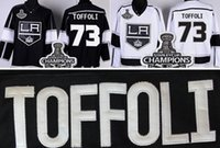 Wholesale hockey jerseys for sale resale online - 2016 New For Sale Cheap Tyler Toffoli Jersey Black Road White Los Angeles Hockey Jersey Polyester Stitched Embroidery Logos